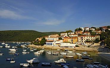 Boats, yachts in marina, Rabac, Croatia, Europe