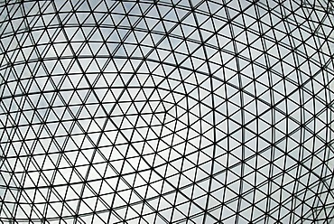 Glass and iron cupola of the Dali Museum, Teatre-Museu Dali in Figueres, Catalonia, Spain, Europe