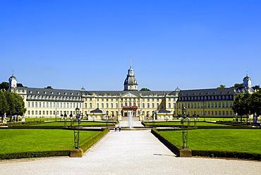 Schloss Karlsruhe, Karlsruhe Palace, Karlsruhe, Baden-Wuerttemberg, Germany, Europe