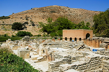 Amphitheatre, archaeological site Gortyn or Gortyna, Crete, Greece, Europe