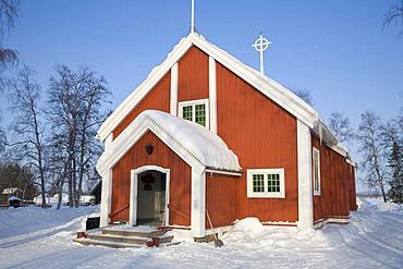 Church of Jukkasjaervi in Lappland, North Sweden, Sweden
