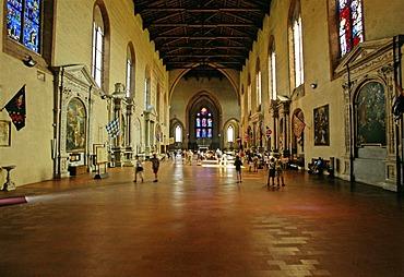 San Domenico Basilica, nave interior, Siena, Tuscany, Italy, Europe