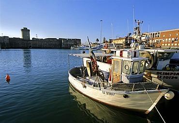Old Darsena harbour, Fortezza Vecchia, Livorno, Tuscany, Italy, Europe
