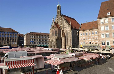 Church of Our Lady, dome, main market place, Nuremberg, Central Franconia, Franconia, Bavaria, Germany, Europe