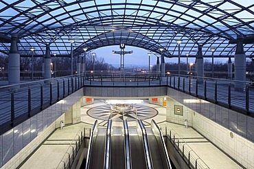 Westfalenhallen subway station, Dortmund, Ruhr Area, North Rhine-Westphalia, Germany, Europe