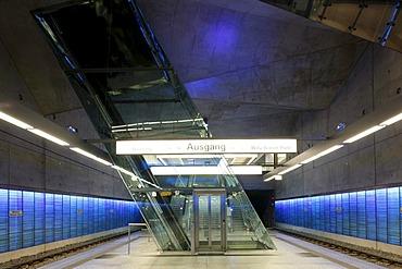 Rathaus-sued underground station, Bochum, Ruhr area, North Rhine-Westphalia, Germany, Europe