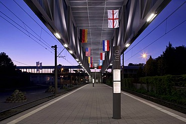 Veltins Arena tram stop, Gelsenkirchen, Ruhr area, North Rhine-Westphalia, Germany, Europe