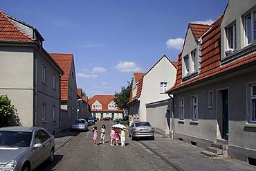 Schuengelberg miners' housing estate, Gelsenkirchen, Ruhr district, North Rhine-Westphalia, Germany, Europe