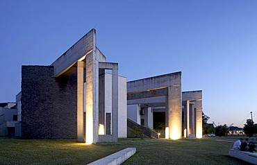 Jewish parish hall on Duisburg harbour, Duisburg, Ruhr area, North Rhine-Westphalia, Germany, Europe