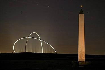 Horizontobservatorium, observatory and sundial, on Hoheward slag heap, Herten, Ruhr area, North Rhine-Westphalia, Germany, Europe