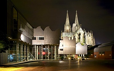 Museum Ludwig and Cologne Cathedral, Cologne, North Rhine-Westphalia, Germany, Europe