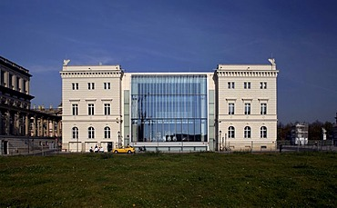 Bertelsmann capital city representative building, reconstruction of the former Kommandatur, military headquarters, Unter den Linden Boulevard, Mitte, Berlin, Germany, Europe