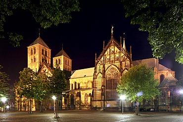 St.-Paulus Cathedral, Muenster, Muensterland, North-Rhine Westphalia, Germany, Europe