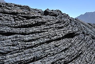 P&hoehoe lava, Cha das Caldeiras, Pico de Fogo Volcano, Fogo Island, Cape Verde Islands, Africa