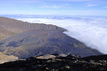 Northern end of the caldera, Cha das Caldeiras, Pico de Fogo Volcano, Fogo Island, Cape Verde Islands, Africa