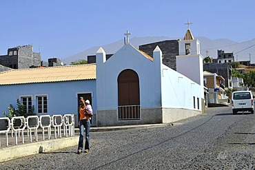 Church, Sao Filipe, Fogo Island, Cape Verde Islands, Africa
