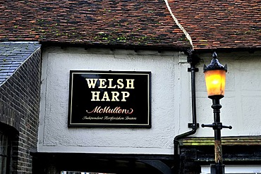 A sign for a pub at Waltham Abbey in Essex, United Kingdom, Europe