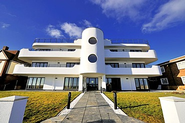 An Art Deco block of flats at Frinton, Essex, England, Great Britain, Europe