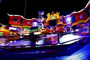 Velocity ride by night, Wiener Prater, Vienna, Austria, Europe
