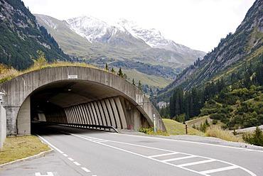 Road tunnel near Arlberg, Vorarlberg, Austria, Europe