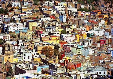 Colourful houses in Guanajuato, Mexico