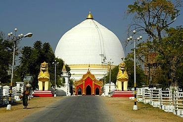 Round cupola, Buddhist tempel, Pagode, Sagaing near Mandalay, Birma, Burma, Myanmar, South Asia