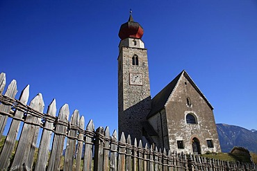 Saint Nicholas Church near Mittelberg, Ritten, South Tirol, Italy, Europe
