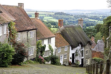 Gold Hill, Shaftesbury, Dorset, South England, Great Britain, Europe