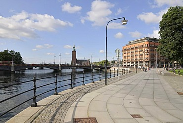 View of the quay near the Old Town, Stockholm, Sweden, Scandinavia, Europe