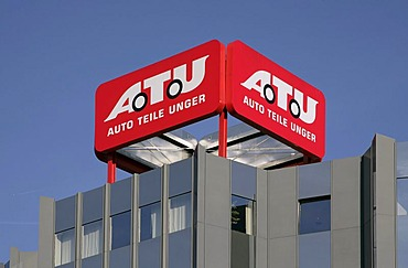 Headquarters, head office, car repair shop chain ATU, Auto-Teile-Unger, Weiden, Bavaria, Germany, Europe