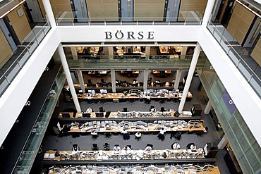 Trading floor of Stuttgart's stock exchange, Boerse Stuttgart AG, Baden-Wuerttemberg, Germany, Europe