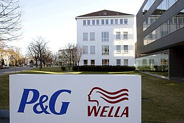 Headquarters of Wella AG, cosmetics producing subsidiary of the US company Procter and Gamble, in Darmstadt, Hesse, Germany, Europe