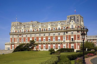 Luxury hotel, Hotel du Palais in Biarritz, Departement Pyrenees-Atlantiques, France, Europe
