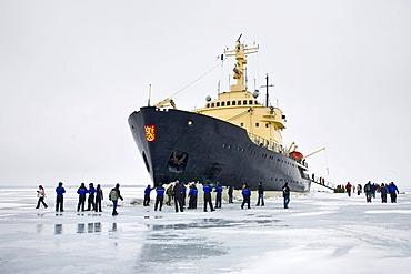 Sampo icebreaker in ice, Kemi, Lapland, Finland, Europe