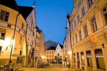 Historic centre of Tallinn in evening light, Estonia, Baltic States, North Europe