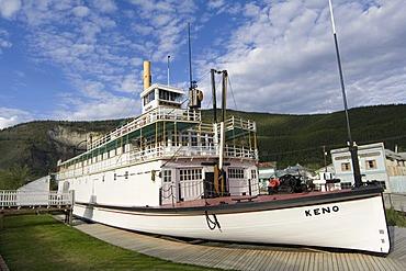 Historic paddle wheel steamer S.S. Keno, Dawson City, Yukon Territory, Canada, North America