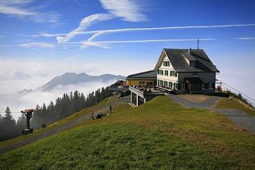 Summit station and guest house on Kronberg, Appenzell, Switzerland, Europe