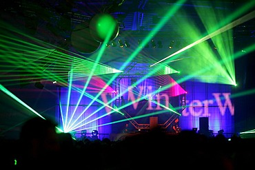 Techno-Rave Winterworld 2009 at the Sporthalle, Sports Hall, Oberwerth in Koblenz, Rhineland-Palatinate, Germany, Europe