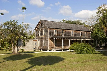 Founders House, historic building in the Koreshan State Park, historic site, religious community, Estero, Florida, USA