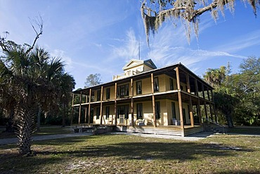Planetary Court on historic ground in the Koreshan Historic Site State Park, Estero, Florida, USA