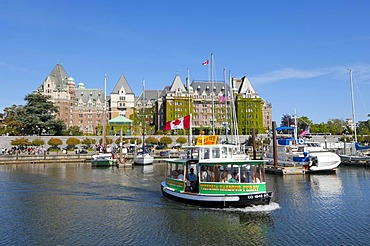 Harbor in front of the Empress Hotel, Victoria, Vancouver Island, British Columbia, Canada