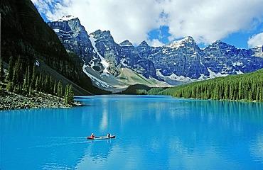 Moraine Lake, Banff National Park, Alberta, Canada, North America