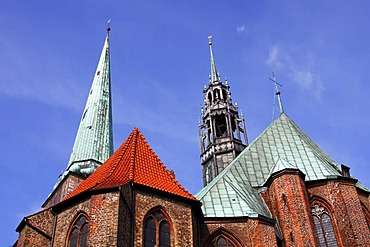 St. Jakobi Church in the historic centre of Luebeck, UNESCO World Heritage Site, Schleswig-Holstein, Germany,