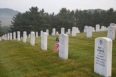 The West Virginia National Cemetery, Pruntytown, West Virginia, USA