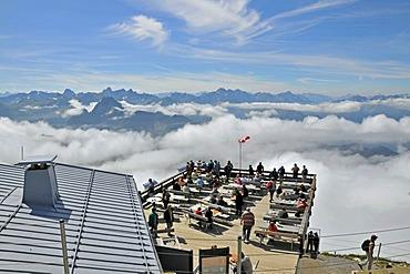 Summit station of Nebelhorn Mountain, Allgaeuer Alps, Bavaria, Germany, Europe