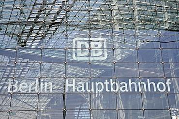 Signage, Berlin Hauptbahnhof, Berlin's main train station, Lehrter Bahnhof, Berlin, Germany, Europe