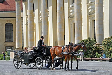 Horse drawn carriage on the Gendarmenmarkt in Berlin, Germany, Europe