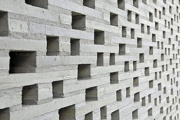 Open work facade of the new construction of the Kolumba Dioezesanmuseum museum, by the architect Peter Zumthor, North Rhine-Westphalia, Germany, Europe