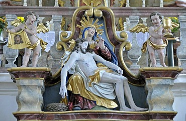 Pieta, pilgrimage church Maria Schnee, Legau, Allgaeu, Bavaria, Germany, Europe