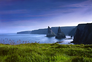 John O' Groats, Caithness, Wick Highland, Dunnet, Thurso, steep coastline in Scotland, UK, Europe